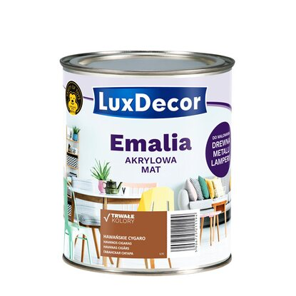 LuxDecor Emalia akrylowa do drewna i metalu mat hawańskie cygaro 750 ml