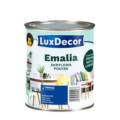 8f43842b01ca52 LuxDecor Emalia akrylowa do drewna i metalu połysk morska toń 750 ml ...
