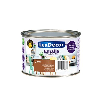 LuxDecor Emalia akrylowa do drewna i metalu mat hawańskie cygaro 400 ml
