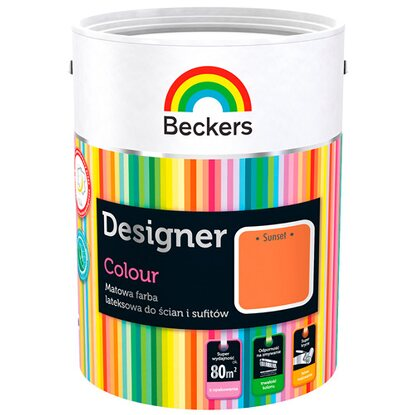Beckers Emulsja lateksowa Designer sunset 5 l