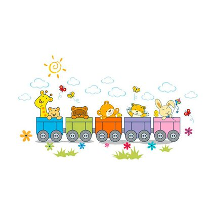 Primacol Naklejka na ścianę Decostickers Zoo train nr 28