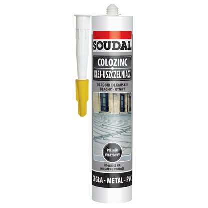Soudal Klej do blach 290 ml brązowy