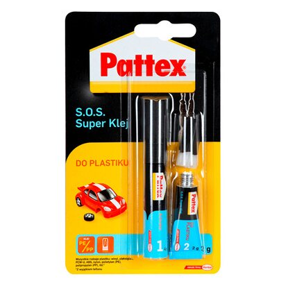 Pattex Klej S.O.S. Super do plastiku 2 g + 4 ml