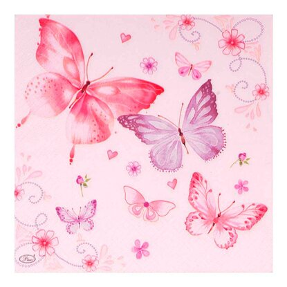 Paw Decor Collection Serwetki papierowe Gentle butterflies