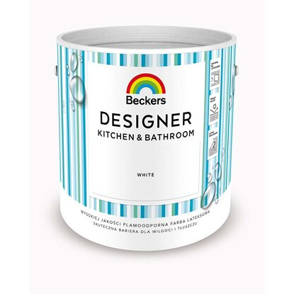 Beckers Emulsja Designer Kitchen&Bathroom White 2,5 l