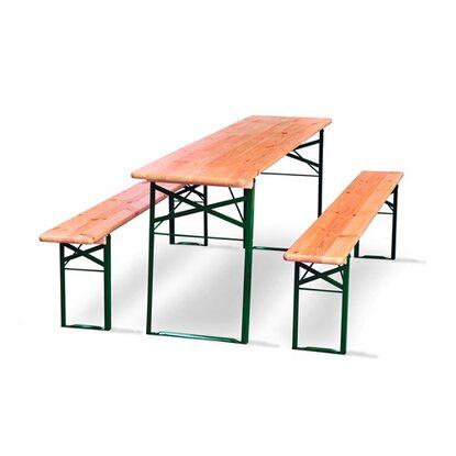Natura Komplet biesiadny stół i 2 ławy