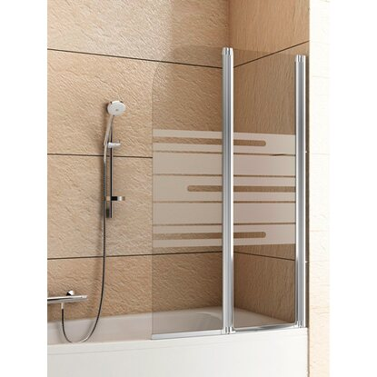 Shower Star Parawan Lugano 81 cm chrom
