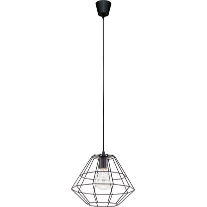TK Lighting Lampa sufitowa DIAMOND śr. 30 cm czarna 1x60W E27