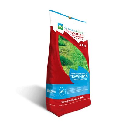 Global Grass Mieszanka traw Renovation + Mosskiller 3 kg