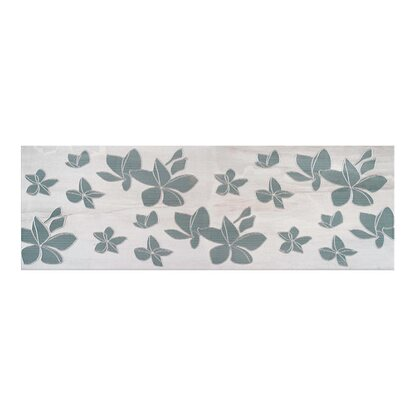 Cersanit Dekor Natural stone flower grey 25 cm x 75 cm