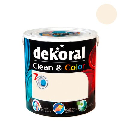 Dekoral Emulsja Clean & Color bawełniany puch 2,5 l
