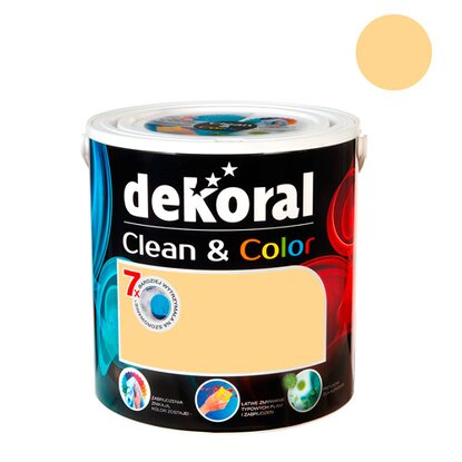 Dekoral Emulsja Clean & Color kremowe boucle 2,5 l