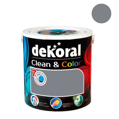Dekoral Emulsja Clean & Color szary canvas 2,5 l