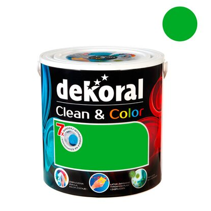 Dekoral Emulsja Clean & Color tweedowa zieleń 2,5 l