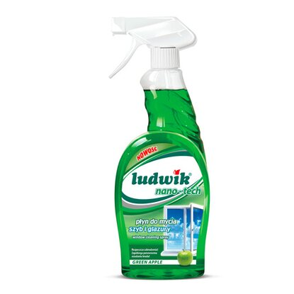 Ludwik Płyn do mycia szyb i glazury nano-tech green apple 750 ml