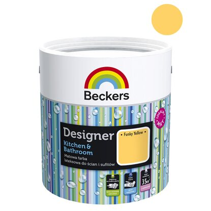 Beckers Emulsja Designer Kitchen&Bathroom Funky Yellow 2,5 l