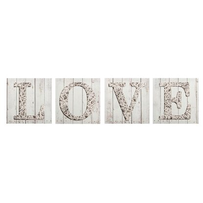 Obraz Multicanvas Words Love White ST301 4X - 32 cm x 32 cm