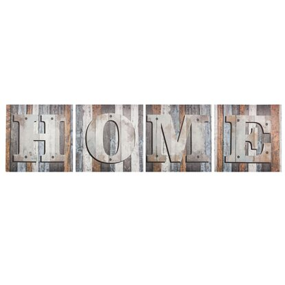 Obraz Multicanvas Words Home Color ST302 4X - 32 cm x 32 cm