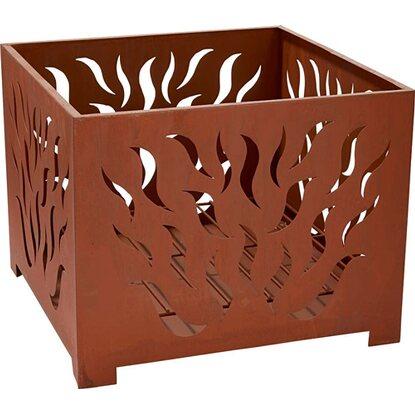 Palenisko kwadratowe płomienie wym. 38 x 38 x 30 cm