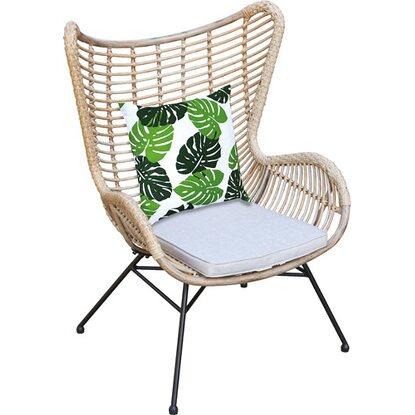 OBI Living Garden Fotel Uppervile z technorattanu z poduszką