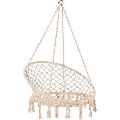 Fotel podwieszany Weslaco bawełna 100x100x11 cm
