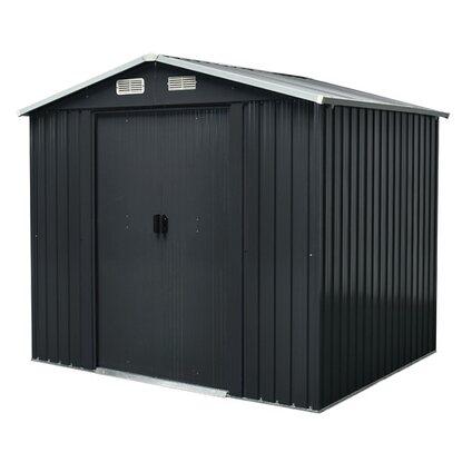 Domek ogrodowy metalowy 4 m2 174x236 wys. 206 cm