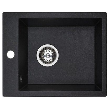 Zlew Uno 1-komorowy granitowy czarny