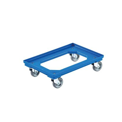 Wózek transportowy EUROBOX niebieski 41 cm x 61 cm