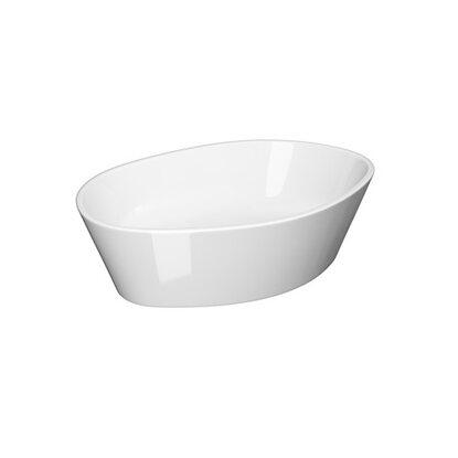 Cersanit umywalka nablatowa City oval 50 z korkiem ceramicznym