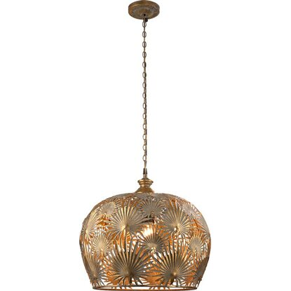 Lampa sufitowa metalowa Exotic Jungle złota 42 x 42 x 43 cm