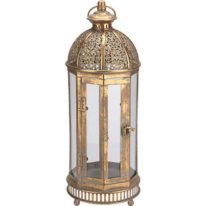 Lampiony metalowe złote
