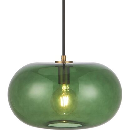 Lampa GLASS green śr. 40 cm 40W E27