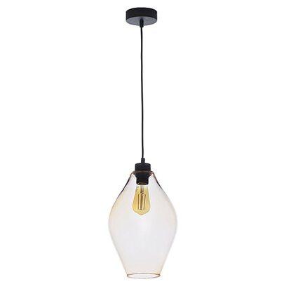 TK Lighting Lampa wisząca TULON bursztyn 1x60W E27