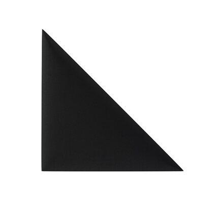 Panel tapicerowany Simple trójkąt 30 x 30 cm komplet 2 szt. czarny
