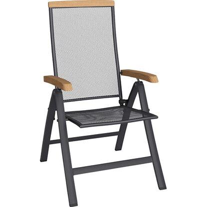 Fotel Amarillo stal/ eukaliptus
