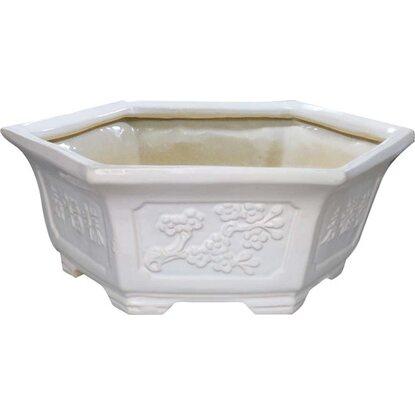 Doniczka Bonsai biała 19,5x16,5cm