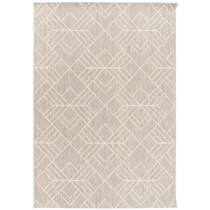Dywan Outdoor geometria jasno szary 80x150 cm
