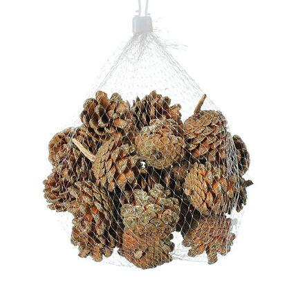 Szyszki naturalne 33szt w worku 5 cm