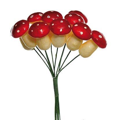 Gałązka dekoracyjna muchomorki 12 cm