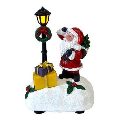 Mikołaj ceramiczny  z latarnią led