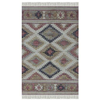 Dywan ręcznie tkany z juty z frędzlami 160x230cm