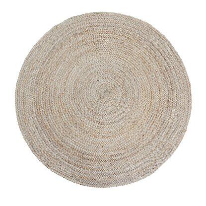 Dywan z juty okrągły natura
