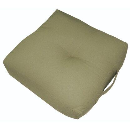 Poduszka siedzisko kwadrat zielona 40x40x10cm