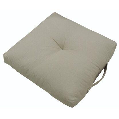 Poduszka siedzisko kwadrat beżowa 40x40x10cm