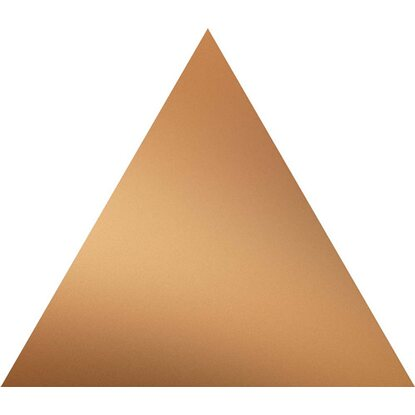 Dekor SCARLET copper triangle 13,9 cm x 16 cm