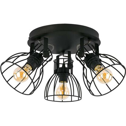 TK Lighting Spirala ALANO czarna metal 3x60W E27
