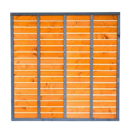 Werth-Holz Płot deskowy Toscana szary-wiśnia 180x180 cm