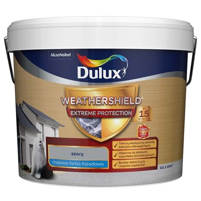 Emulsja fasadowa Dulux Extreme Protection szary 10 l