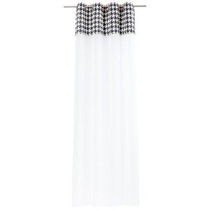 Firana ICONIC CHIC biała 140 cm x 270 cm na przelotkach