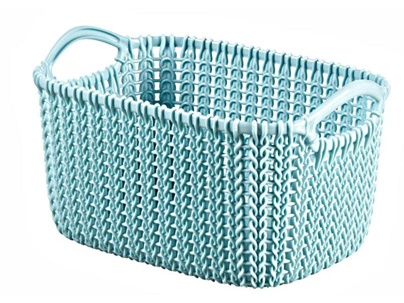 Curver Koszyk Knit Xs Prostokątny Szaro Błękitny 3 L